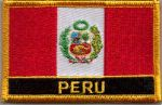 Peru Embroidered Flag Patch, style 09